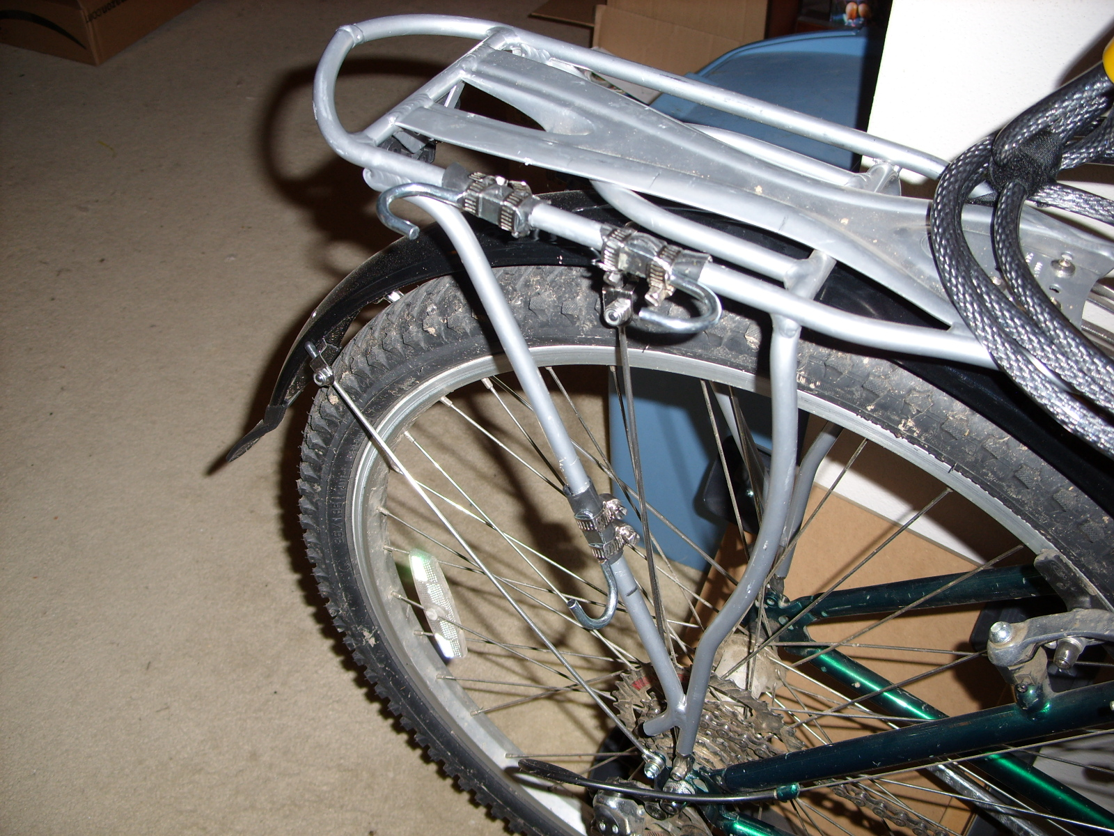 My Diy Bicycle Frame Or Rear Rack Mounted U Lock Holder