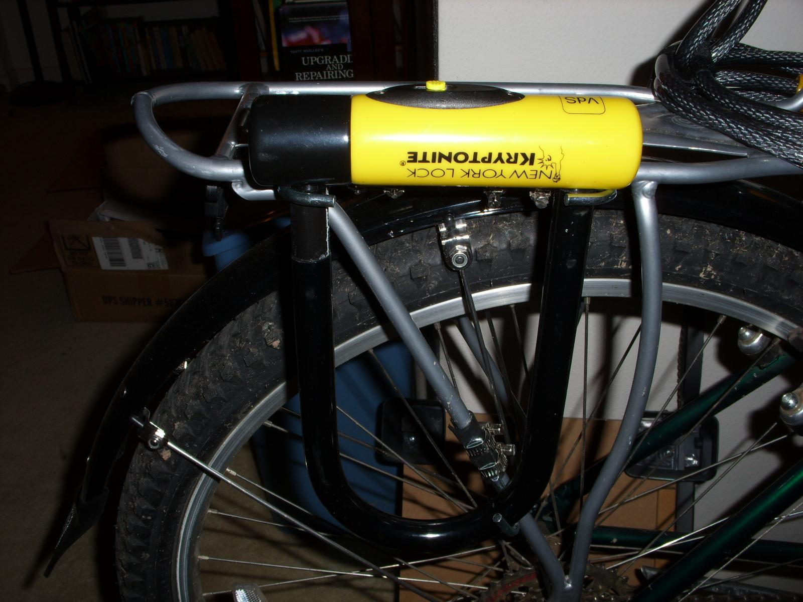 my diy bicycle frame or rear rack mounted u lock holder. Black Bedroom Furniture Sets. Home Design Ideas